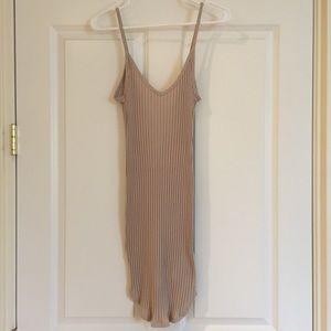 Tan slip dress